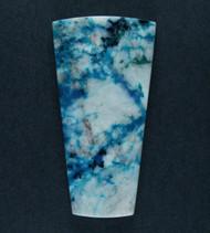 Bright Blue Gem Chrysocolla/Azurite in Agate Cabochon   #17390