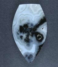 Marfa Black Plume Agate Designer Cabochon  #17439