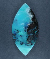 Bright Blue Gem Chrysocolla/Azurite in Agate Cabochon  #17499
