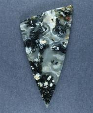 Exceptional Marfa Black Plume Agate Designer Cabochon  #17500