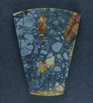 Dramatic Blue Dream/Mescalero Jasper Cabochon-    #17508