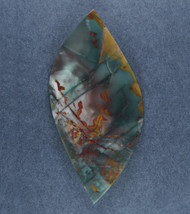 Dramatic Morrisonite Jasper Cabochon- Red, Blue + Yellow   #17538