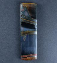 Dramatic Marra Mamba  Cabochon -  Rare Copper Red, Cobalt Blue  #17589