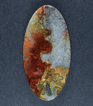 Crazy lace Agate Cabochon- Red, Orange and Yellow  #17647