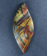 Dramatic Marra Mamba  Cabochon -  Rare Copper Red, Blue and Yellow  #17672
