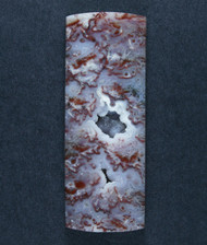 Dramatic designer cabochon of Cadys Sagenite/ Plume Agate   #17678