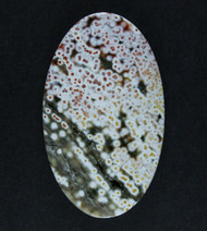 Dramatic Red and Green Ocean Jasper Designer Cabochon  #17746