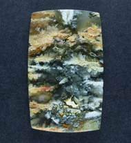 Unique Graveyard Point Plume Agate Cabochon w Druzy  #17748
