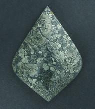 Gorgeous! Malibu Plume Marcasite Agate Cabochon  #17766