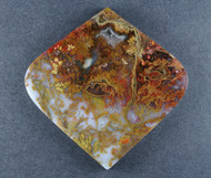 Dramatic designer cabochon of Cady Mtn Plume Agate   #17829