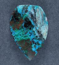 Bright Blue Chrysocolla w Cuprite Designer Cabochon   #17860