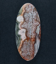 Crazy lace Agate Cabochon- Red, Orange and Yellow  #17865