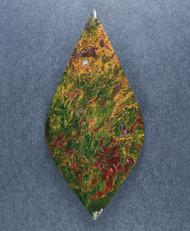 Gorgeous Lucky Strike Moss Jasper Cabochon  #17878