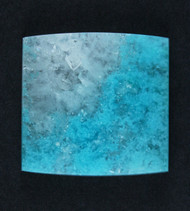 Bright Blue Chrysocolla in Agate Cabochon #17910