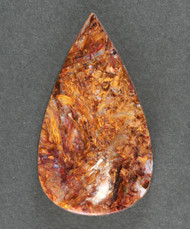 Gorgeous Pietersite Cabochon- Chatoyant Red and Gold   #17920