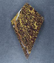 Dramatic Stony Creek Poppy Jasper Designer Cabochon  #17997