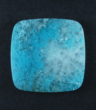 Bright Blue Plume Chrysocolla in Agate Cabochon #18004