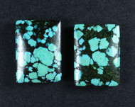 Gorgeous Hubei Spiderweb Turquoise - Matched Pair  #18054