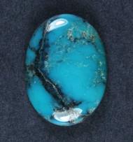 Gorgeous Hubei Spiderweb Turquoise Cabochon  #18072