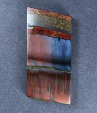 Dramatic Marra Mamba  Cabochon -  Rare Copper Red, Cobalt Blue  #18114