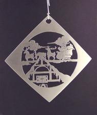 Handmade Sterling Silver Ornament ornsanta