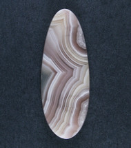 Top Shelf Laguna Agate Cabochon-  Pink and White  #18134