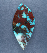 Deep Blue Chrysocolla w Cuprite Designer Cabochon   #18180