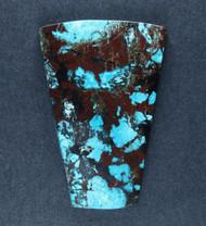 Bright Blue Chrysocolla w Cuprite Designer Cabochon   #18177
