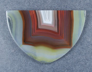 Exceptional Brazilian Agate Double Sided Tongue  #18203