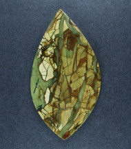 Dramatic Morrisonite Jasper Cabochon- Greens and Orange  #18213