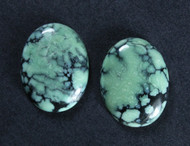 Copy of Gorgeous Hubei Spiderweb Turquoise - Matched Pair  #18254