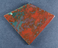 Dramatic Red and Green Ocean Jasper Designer Cabochon  #18280