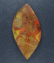 Red and Gold Morgan Hill Poppy Jasper Designer Cabochon  #18291