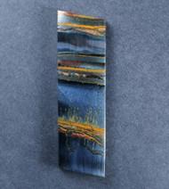 Dramatic Marra Mamba  Cabochon -  Rare Cobalt Blue w Red,   #18302