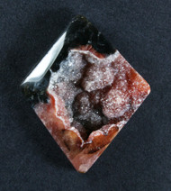 Brilliant Raspberry Druzy on Agate  #18312