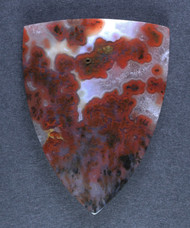 Gorgeous Woodward Ranch Plume Agate Cabochon  #18333