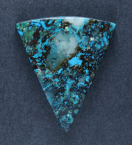 Deep Blue Chrysocolla w Cuprite Designer Cabochon   #18367