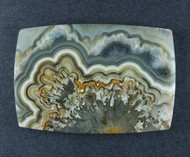 Crazy lace Agate Cabochon- Orange, Tan and White  #18420
