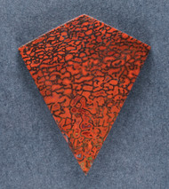 Beautiful Agatized Dino Bone Cabochon- Red and Black  #18436