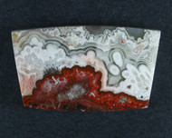 Crazy lace Agate Cabochon- Red, Pink and White  #18441