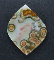 Dramatic Orange and Green Ocean Jasper Designer Cabochon  #18459