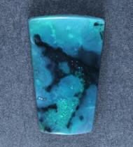 Rare! Needles Blue Gem Chrysocolla  w Tenorite Cabochon   #18463