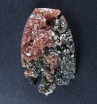 Big Brilliant Raspberry Druzy on Agate w Angelwing   #18479