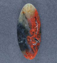 Gorgeous Woodward Ranch Plume Agate Cabochon  #18539