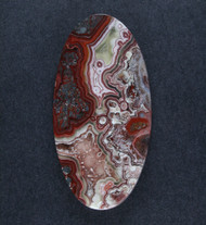 Crazy lace Agate Cabochon- Red, Pink and White  #18541