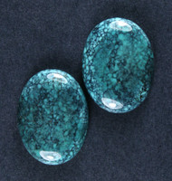 Gorgeous Hubei Spiderweb Turquoise - Matched Pair  #18554