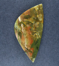 Dramatic Morrisonite Jasper Cabochon- Blue/Green and Yellow   #18564