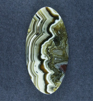 Crazy lace Agate Cabochon- Black, Grey White    #18579
