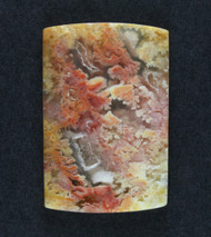 Top Shelf Feather Ridge Plume Agate Designer Cab  #18585