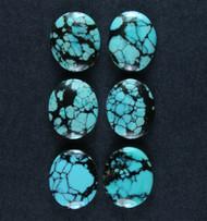 Gorgeous Hubei Turquoise Cabochon- Matched set  #18590